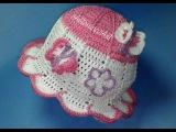 летняя шляпка для девочки (вязание крючком)