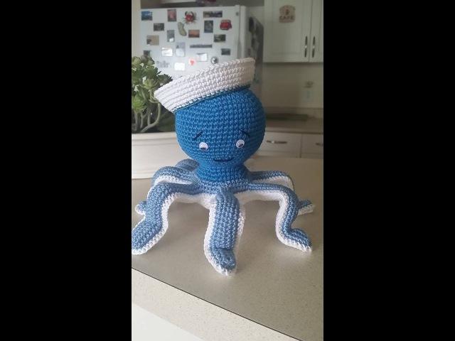 Осьминог амигуруми,Bязаие крючком часть1 .Amigurumi octopus pattern