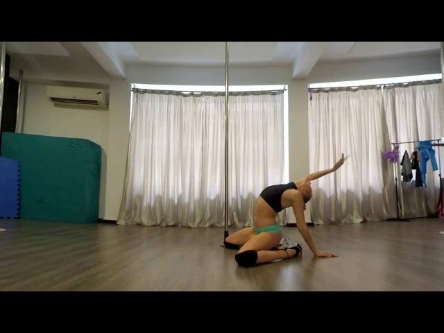Beginner Exotic Pole Dance Floorwork Routine Wicked Games - The Weeknd