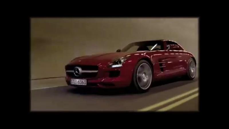 Mercedes SLS AMG смертельный трюк в тоннеле