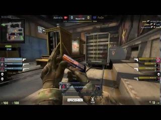 CS:GO Kjaerbye 1 vs 3 clutch Astralis vs FaZe
