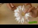 МК Цветок с острыми лепестками Лодочка на резинке для волос