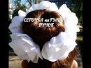 Сеточка для Волос на Гульку (Пучок) в Школу из Ленты. / Flower. /Kanzashi./ DIY. /Tutorial