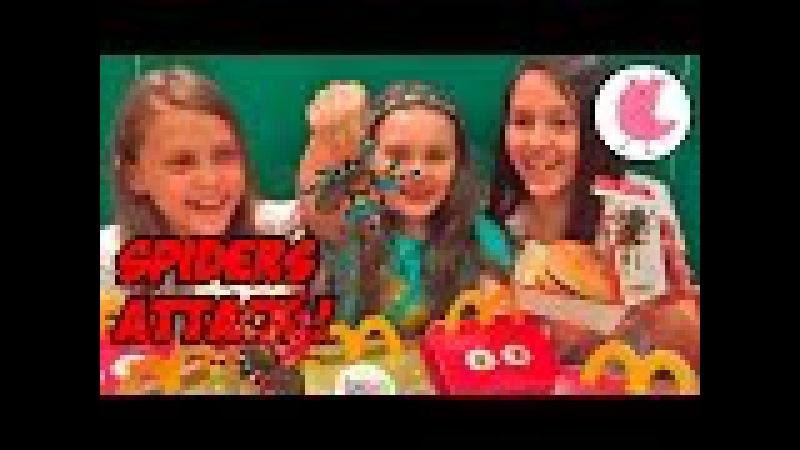 ★ ЧЕЛЛЕНДЖ МАКДОНАЛЬДС ЕДИМ БУРГЕРЫ СО ЗМЕЯМИ И ПАУКАМИ Burger Mcdonalds Challange Spiders Snakes