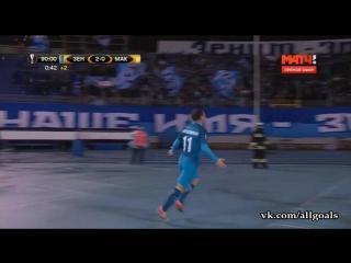 Зенит 2-0 Маккаби / гол Кержаков