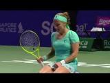 Момент ахуительной победы Светланы Кузнецовой над Плишковой в матче второго тура WTA Finals-2016
