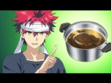 В поисках божественного рецепта / Кухня Сомы | Shokugeki no Souma - 2 сезон 1 серия (озвучка AniDub.com) HD720