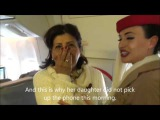 Emirates cabin crew surprises her mother on board
