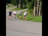 Мужская сборная Норвегии на тренировке в Обертиллиахе. Август 2016