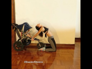 Stroller Workout with exercises appropriate for Diastasis Rect