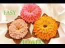 Como tejer fácil y rápido flores con hojas en una sola tira - Make Knitting crochet easy