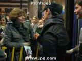 James McAvoy and Nigel Harman at Apollo Theatre Stage Door 02 21 09