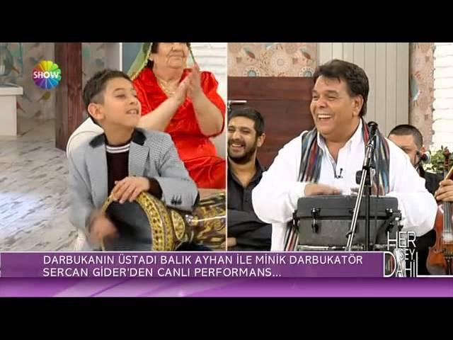 Küçük Sercan ve Balık Ayhan darbuka şov Her Şey Dahil Canlı Performans