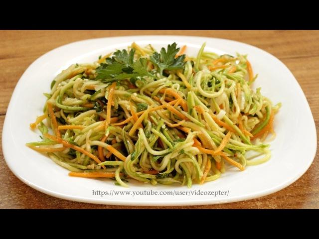 Кабачки по-корейски How to make Korean style zucchini salad ♡ English subtitles
