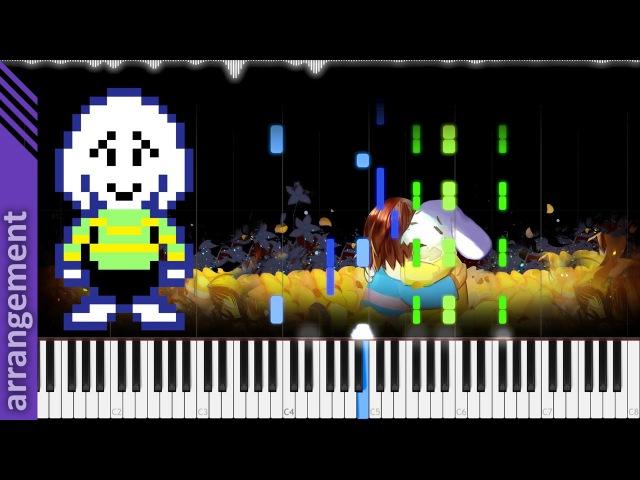 Undertale His Theme | LyricWulf Piano Tutorial on Synthesia TuTORIEL OST 90