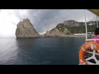 Путешествие из Симеиза в Ласточкино гнездо по морю.