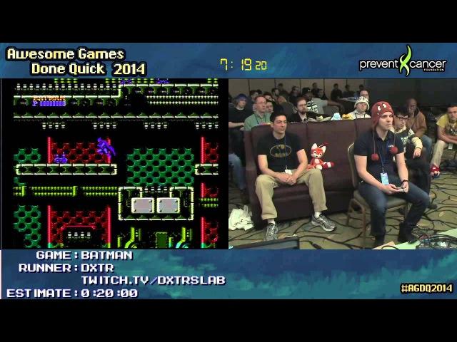 Batman NES SPEED RUN 0 10 34 Live by dxtr AGDQ 2014