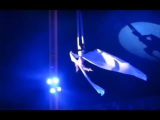 Гимнастка Цирк Шапито Приветствие Алматы Захватывает Дух