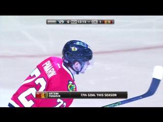 НХЛ 16-17. Семнадцатая заброшенная шайба Артемия Панарина в сезоне 2016-2017