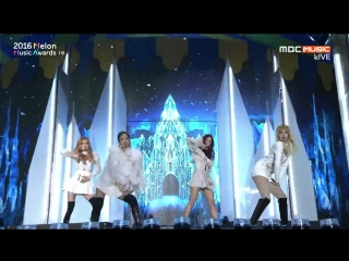 Black Pink -  Whistle + Playing With Fire @ 2016 Melon Music Awards 161119