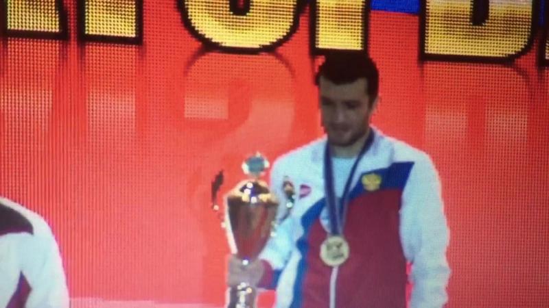 Награждение Чемпиона Европы 2016 в вес.кат. 75kg - Даци Дациева