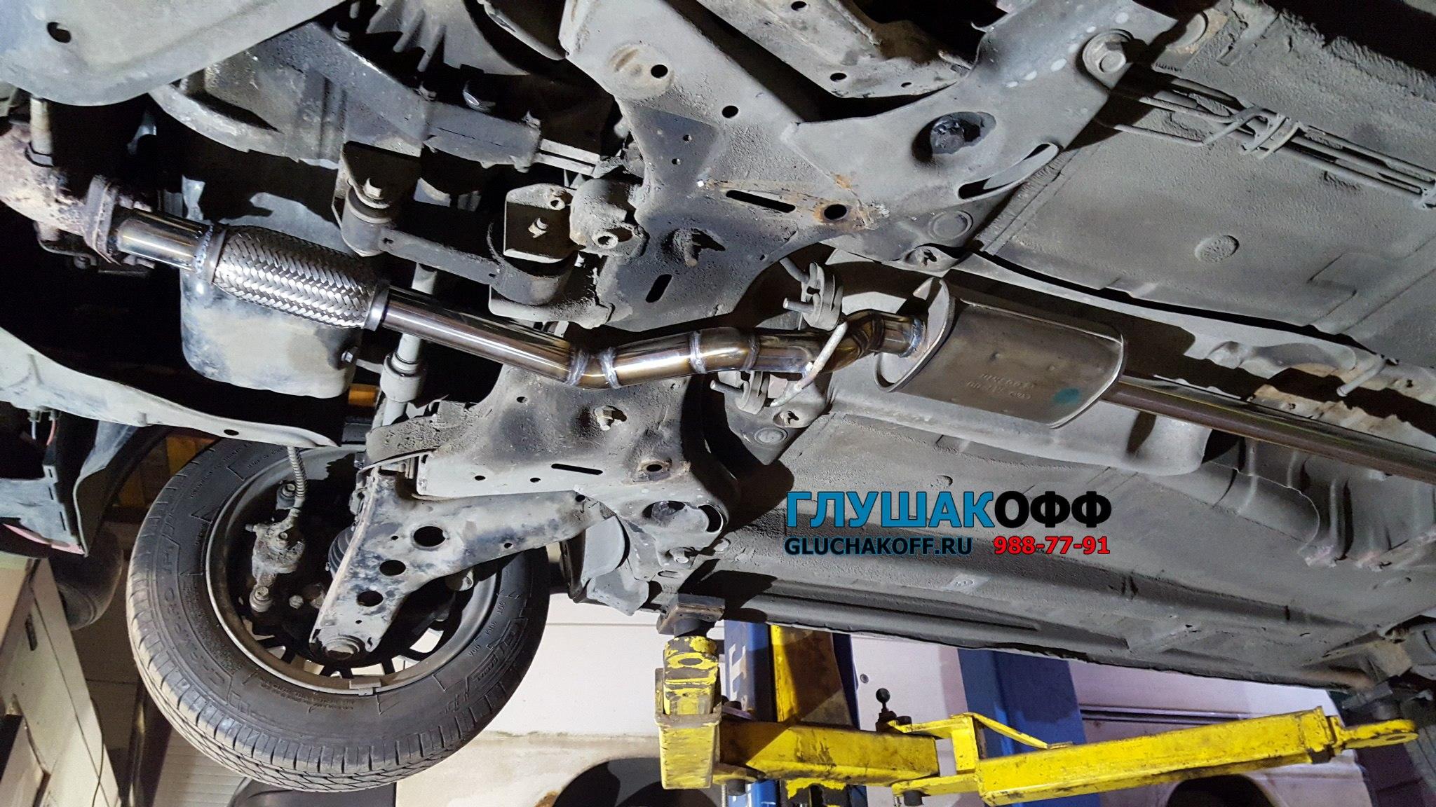 Kia Picanto - Замена штатной выхлопной системы на нержавейку