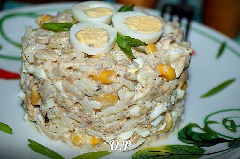 Рыбный салат рецепт очень вкусный