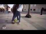 15 летняя девочка делает всех в стритбол [240p]