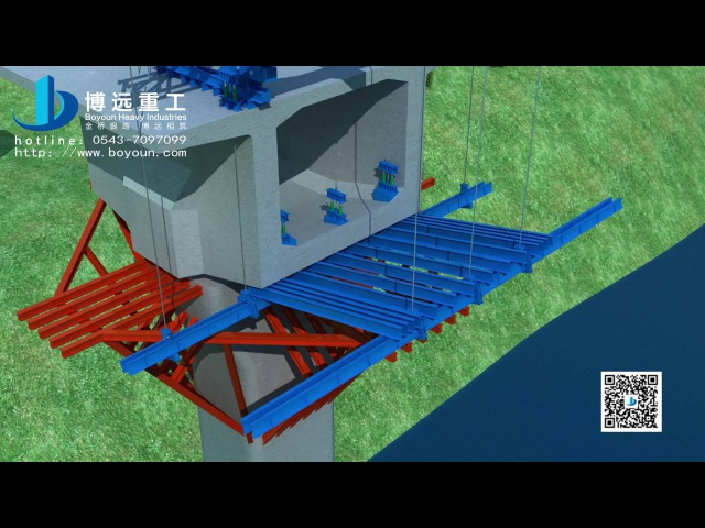 Balanced cantilever construction for Pre-stressed concrete continuous beam