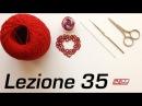 Chiacchierino Ad Ago - 35˚ Lezione Cuore Ciondolo Orecchino Tutorial Con Schema Bijoux Heart Tatting
