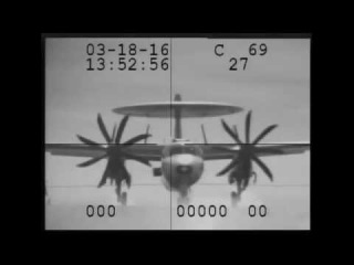 Cable snaps on USS Eisenhower during landing