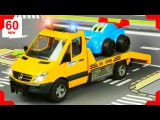 The Yellow Tow Truck + 1 Hour kids videos compilation  Construction Trucks &amp Cars for children