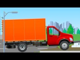 The Red Truck and The Excavator - Construction Trucks Video - Vehicle & Car Planet for children