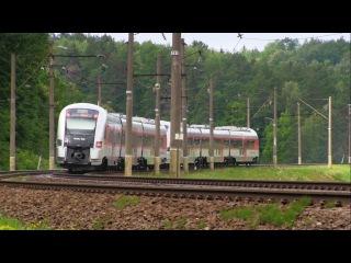Дизель-поезда PESA 730МЛ-001, 730МЛ-003 и ТЭП70БС-002 / DMU 730ML-001, 730ML-003 and TEP70BS-002