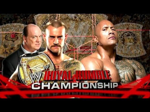 The Rock vs. CM Punk, Royal Rumble Championship 2013 г.