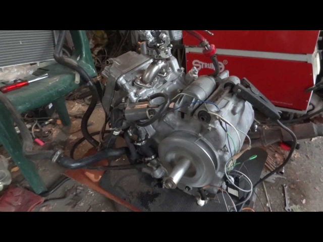 First test of the Silver Wing 600 engine with carburetor and simple DC CDI