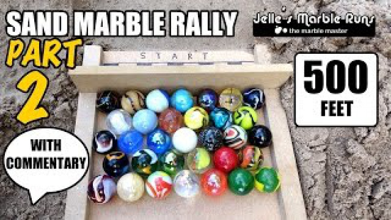 Thrilling Sand Marble Race with commentary! (better than Formula 1)