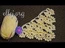 ♥ Шаль Бабочки-Снежинки крючком • Butterflies-Snowflakes crochet pattern.