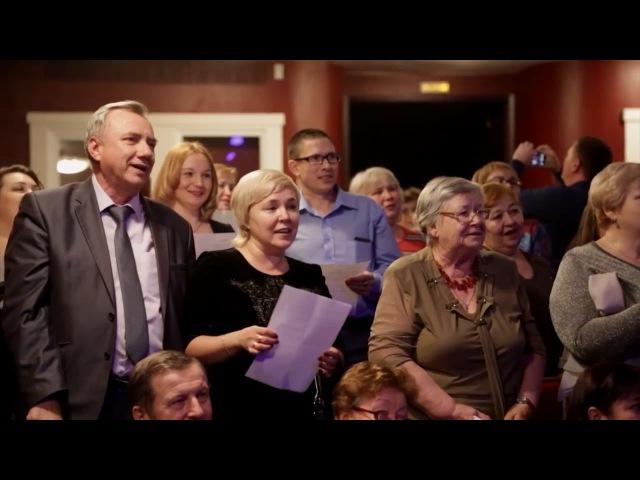 В России зал стоя пел украинскую песню/In Russia sang Ukrainian song