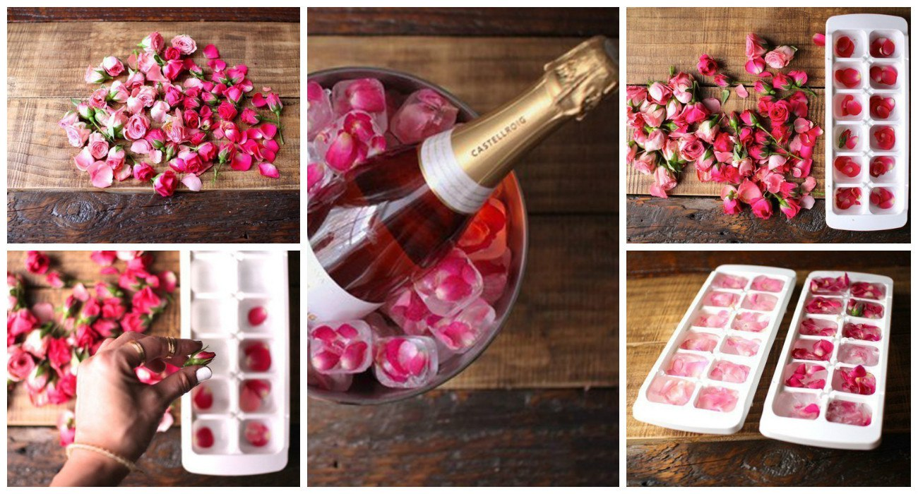 Как сделать декоративный лед для шампанского