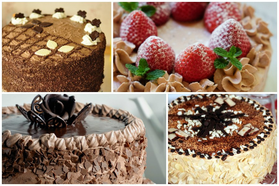 Праздничный торт Крем-Брюле - примеры оформления