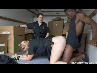 Maggie Green/Black suspect taken on a rough ride, gets horny Milf cops wet and fucking on stolen goods (fantasies, fake cop)