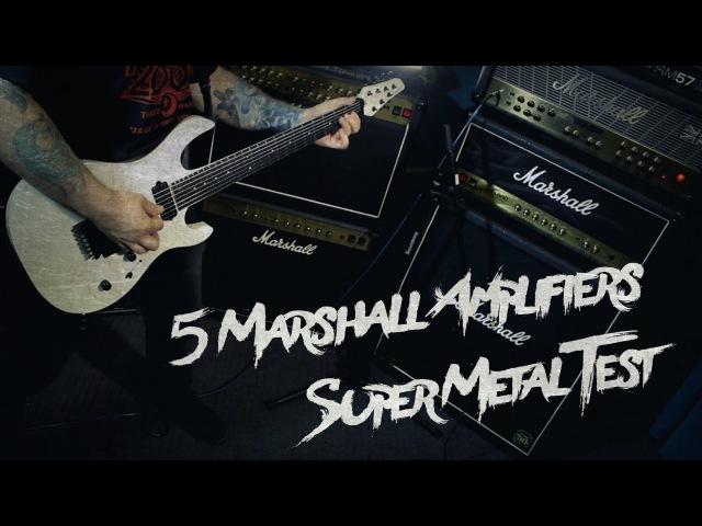 5 Marshall Amplifiers Metal - Vintage Modern/JVM/DSL/ModeFour/JCM800