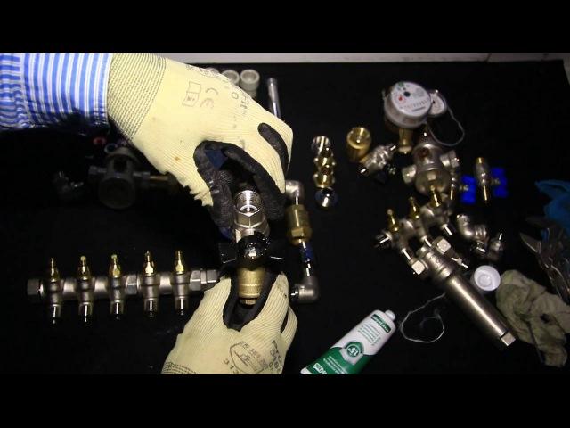 Сборка коллектора водоснабжения на анаэробный клей-герметик