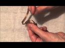 Вышивка лентами для начинающих Как вдеть ленту в иголку