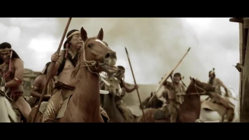 Восстание Техаса. Бой техасцев с индейцами в городке