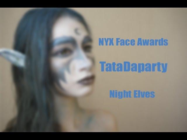 NYX Face Awards Russia 2016    Night Elves    MakeUp Tutorial    TataDaparty