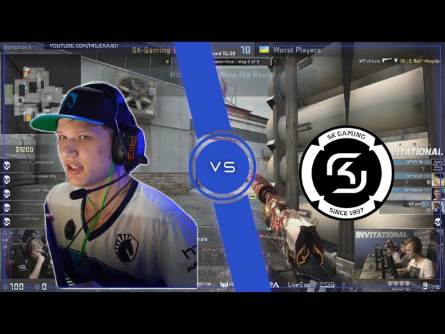 WP s1mple vs SK Gaming   ACE with USP-S, ALL HEADSHOTS  