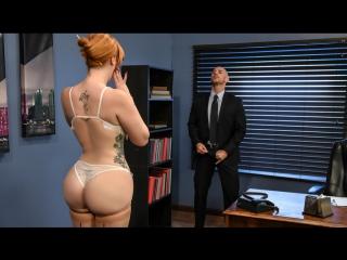 Lauren phillips [hd 720, big tits, redhead, natural tits, secretary, work fantasies]