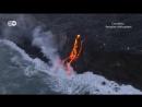 Извержение вулкана: лава встретилась с океаном
